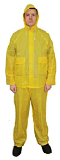 Yellow Rainsuit with Elastic Waist Pants