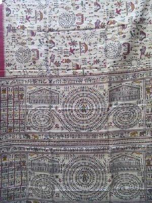 Handloom Madhubani Silk Sarees