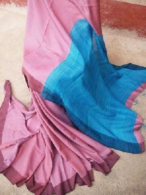 Tussar Staple Ghicha Pallu Silk Saree