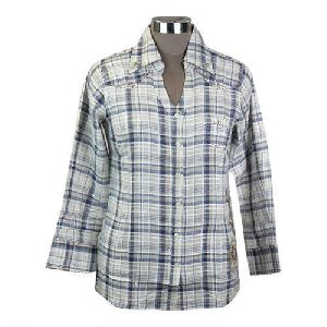 Ladies Check Giza Cotton Shirts