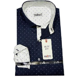 Mens Casual Dotted Shirts