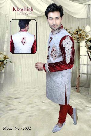 3002 Mens Designer Indo Western Sherwani