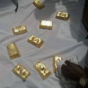 Raw gold bars