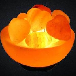 Heart Shaped Chunks Crafted Himalayan Salt Lamp