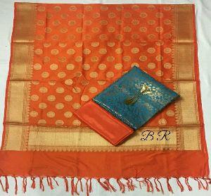 Pure Banarasi Silk Dupatta Jaquard Suits