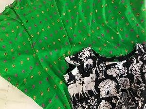 Kalamkari Silk Yoke Chiffon Designer Anarkali Kurtis