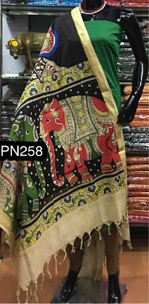 Hand Painted South Cotton Dupatta Suits