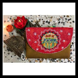 Exclusive Raw Silk Hand Painted Clutches