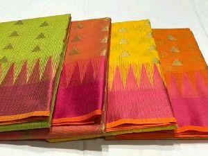 Exclusive Zari Kota Blend Drape Sarees With Blouse Piece