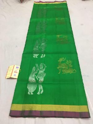 Handloom Pure Kanchi Pattu Soft Silk Sarees