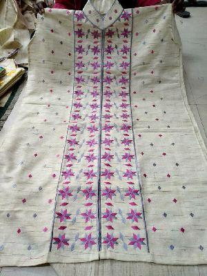 Khadi Cotton Phulkari Work Semi Stitched Kurtis