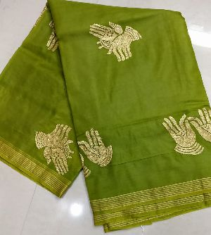 kora organza sarees embroidery work