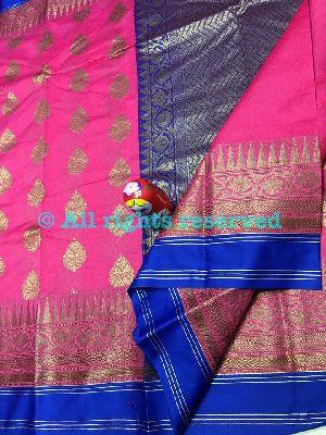 Maheshwari Silk Weaving Sarees With Blouse