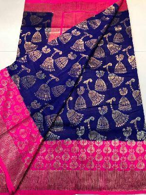 Pure Handloom Banaras Dupion Silk Sarees