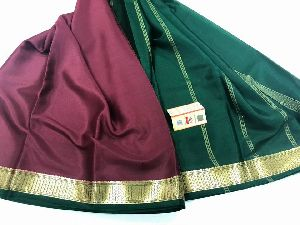 Pure Mysore Silk Crepe Sarees With Blouse