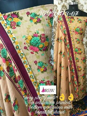 Rdw Pashmina Printed Unstitched Suits