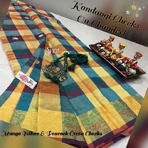Sf107 Chanderi Silk Cotton Sarees