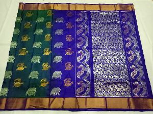 Uppada Pure Silk Kanchipuram Model Sarees