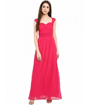 Womens Georgette Maxi Dress