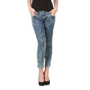 Ladies Printed Skinny Jeans