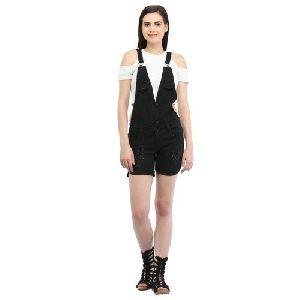 Ladies Short Cotton Dungaree