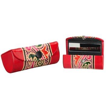 Shanti Leather Single Lipstick Cases