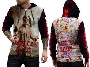 American Gods Tv Series Fans Fullprint Sublimation Man Zipper Hoodie