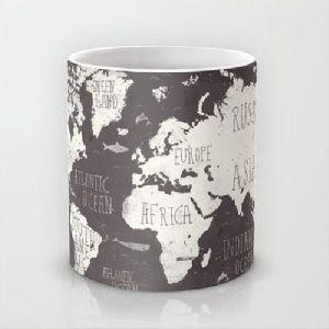 Map Print Coffee Mug