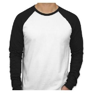 Mens Full Sleeve Plain Round Neck T-shirts