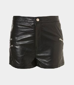 Ladies Leather Shorts