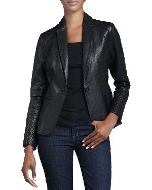 Leather Ladies Blazer