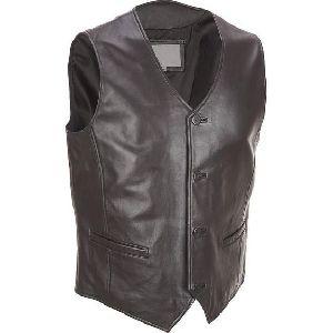 Leather Mens Vest Coat