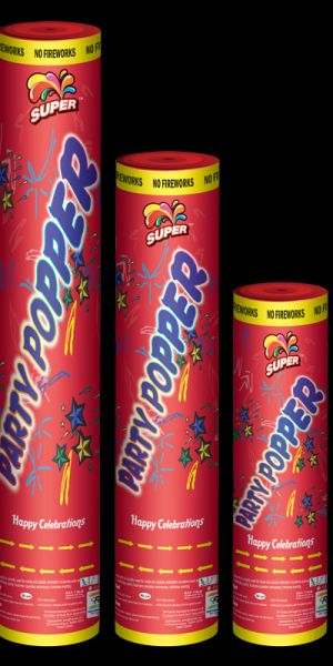 COLOR LABEL PARTY POPPERS