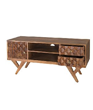 Brass Inlay Tv Stand