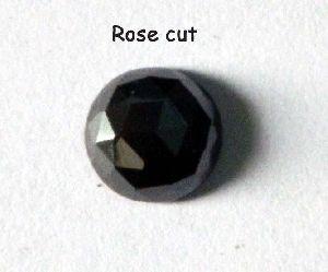 Rose Cut Black Diamonds