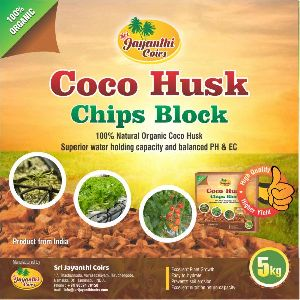 Coco Husk Chips Blocks