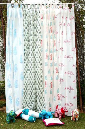 Handblock Printed Curtains