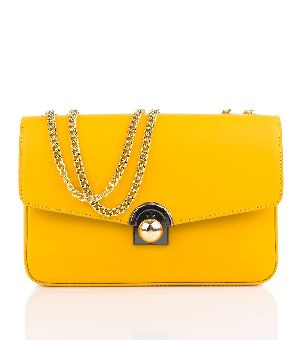 Bovory Yellow Leather Handbags