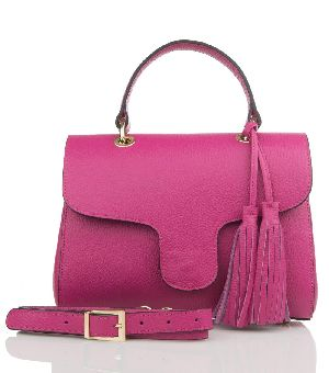 Bovory Pink Leather Handbags