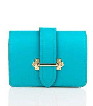 Bovory Sky Blue Leather Handbags