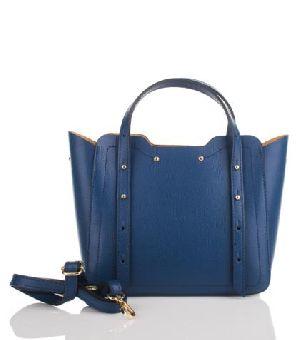Bovory Dark Blue Leather Handbags