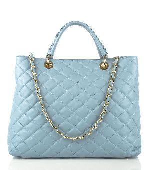 Bovory Light Blue Leather Handbags