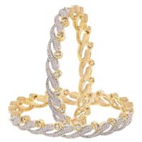 Penny Jewels Casual Hit Designer Golden American Diamond Bangles