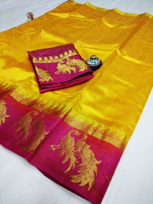 Peacock Border Silk Sarees
