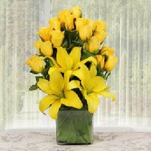 Youthful Yellow Flower Bouquet