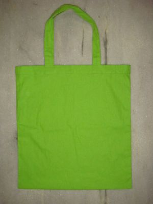 dyed green cotton bag