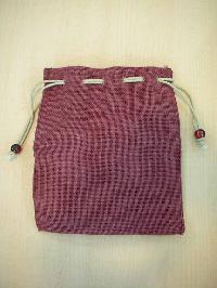 pink dyed pouch bag