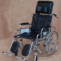 Wheelchair, Folding With Fixed Armrests & Legrests (economy Model)