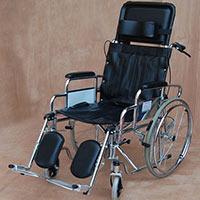 Wheel Chair  Folding Recline Back Super Dlx