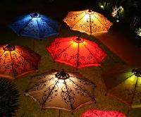 traditional garden umbrella